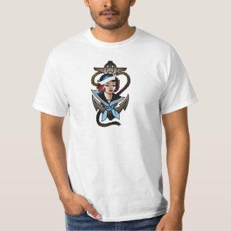 vintage sailor girl navy tattoo T-Shirt