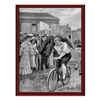 Vintage sailors cycle race post cards
