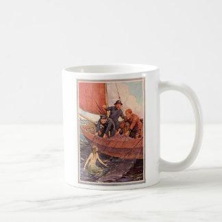 Vintage Sailors Mermaid Catch Coffee Mug