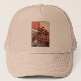 Vintage Sailors Mermaid Catch Trucker Hat