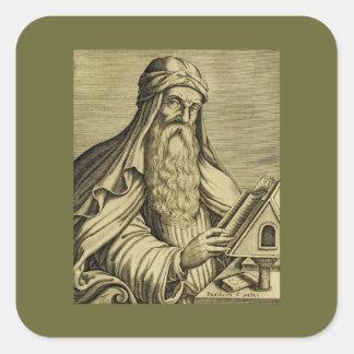 Vintage Saint Basil Hand-drawn Image Square Sticker