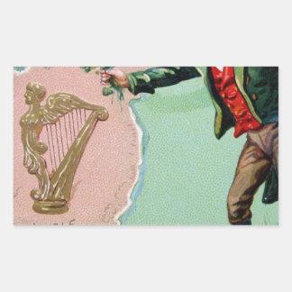 Vintage Saint Patrick's day erin's isle poster Rectangular Sticker