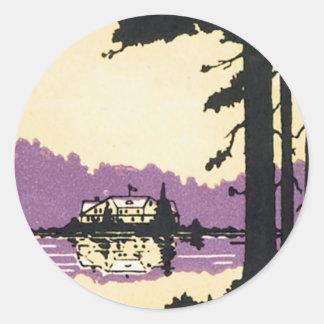 Vintage Saint Paul Lakeland MN Classic Round Sticker