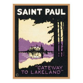 Vintage Saint Paul Lakeland MN Postcard