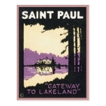 Vintage Saint Paul Lakeland MN Postcards
