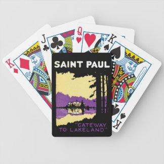 Vintage Saint Paul, Minnesota Bicycle Card Deck