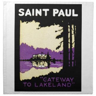 Vintage Saint Paul, Minnesota Cloth Napkin