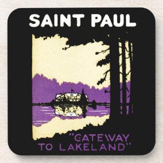Vintage Saint Paul, Minnesota Drink Coaster
