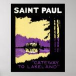 Vintage Saint Paul, Minnesota Impresiones