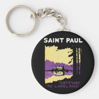 Vintage Saint Paul, Minnesota Keychain