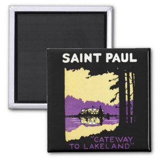 Vintage Saint Paul, Minnesota Magnet