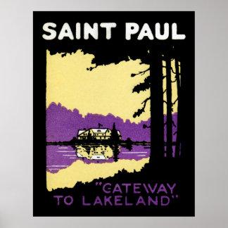Vintage Saint Paul, Minnesota Poster