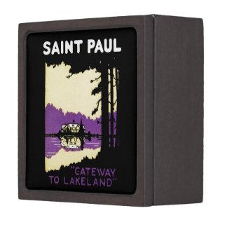 Vintage Saint Paul, Minnesota Premium Keepsake Box