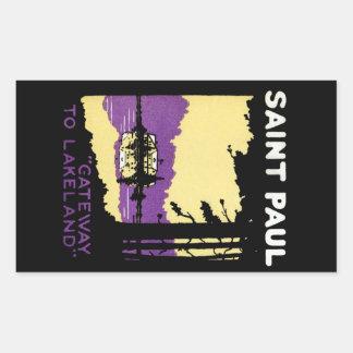 Vintage Saint Paul, Minnesota Rectangle Stickers