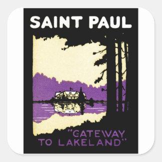 Vintage Saint Paul, Minnesota Stickers