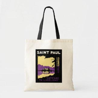 Vintage Saint Paul, Minnesota Tote Bag