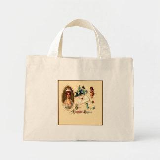 Vintage Saint Valentine Greetings Small Bag