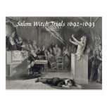 Vintage Salem Witch Trials, Salem MA Post Card