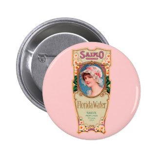 Vintage Salko Florida Water Perfume Label Pinback Button