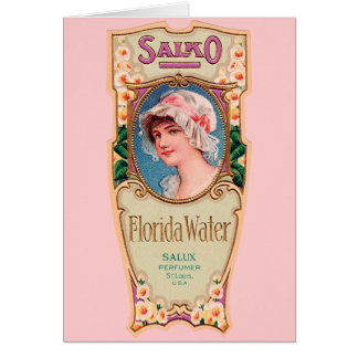 Vintage Salko Florida Water Perfume Label Card