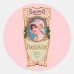 Vintage Salko Florida Water Perfume Label Classic Round Sticker
