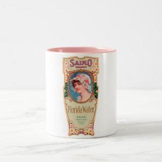 Vintage Salko Florida Water Perfume Label Two-Tone Coffee Mug
