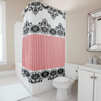 Contemporary White Lace Shower Curtain R On Design