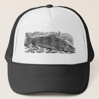 Vintage Salmon Illustration Trucker Hat