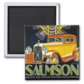 Vintage Salmson Automobile Ad 2 Inch Square Magnet