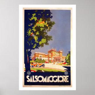 Vintage Salsomaggiore Italian travel poster