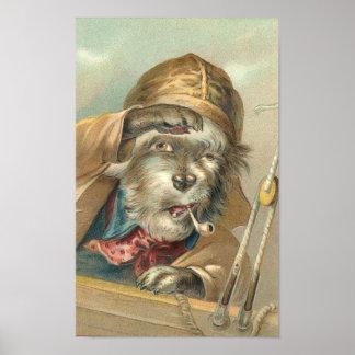 Vintage Salty Dog Poster