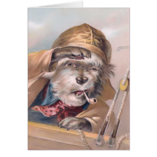 Vintage Salty Sea Dog Get Well Soon Card