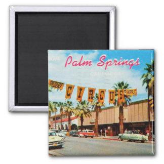 Vintage: Saludos del Palm Springs Imán Cuadrado