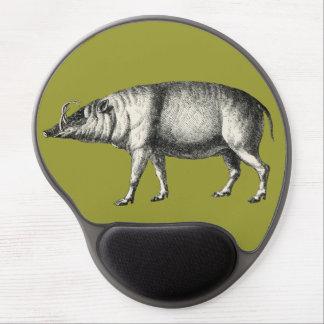 Vintage salvaje de Warthog del cerdo del verraco d Alfombrilla De Ratón Con Gel