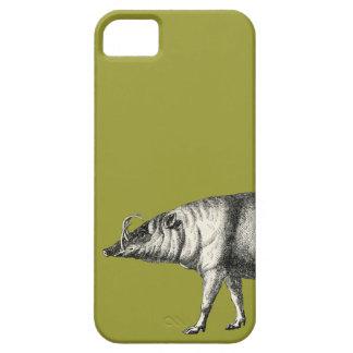 Vintage salvaje de Warthog del cerdo del verraco d iPhone 5 Case-Mate Carcasas