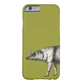 Vintage salvaje de Warthog del cerdo del verraco Funda De iPhone 6 Barely There