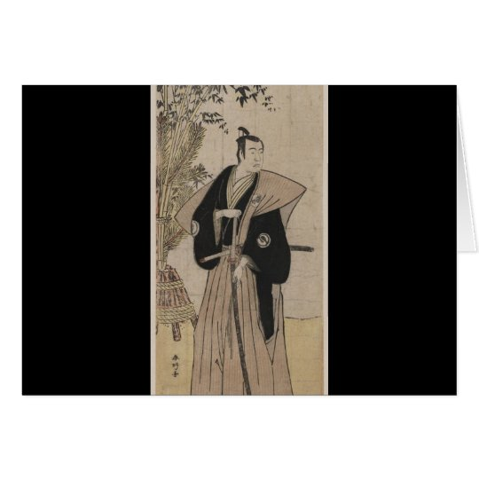 Vintage Samurai with Bamboo circa 1700s Card