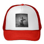 Vintage Samurai with Sword and Dagger Mesh Hat