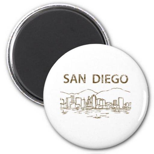 Vintage San Diego 2 Inch Round Magnet