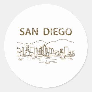 Vintage San Diego Classic Round Sticker