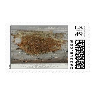 Vintage San Francisco 1878 Postage Stamps