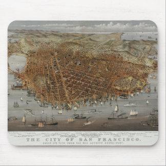 Vintage San Francisco 1878 Tapetes De Ratón