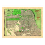 Vintage San Francisco 1909 Map Postcard