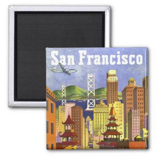 Vintage San Francisco 2 Inch Square Magnet