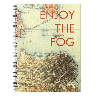 Vintage San Francisco Alcatraz Map Notebook