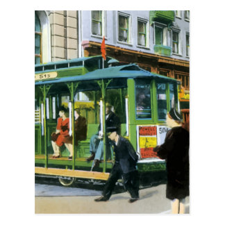 Vintage San Francisco Cable Car Postcard