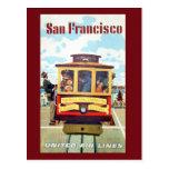 Vintage San Francisco Cable Car Travel Postcard