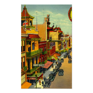 Vintage San Francisco Chinatown Poster