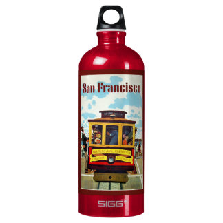 Vintage San Francisco custom name travel bottles