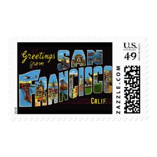 Vintage San Francisco del franqueo Sellos